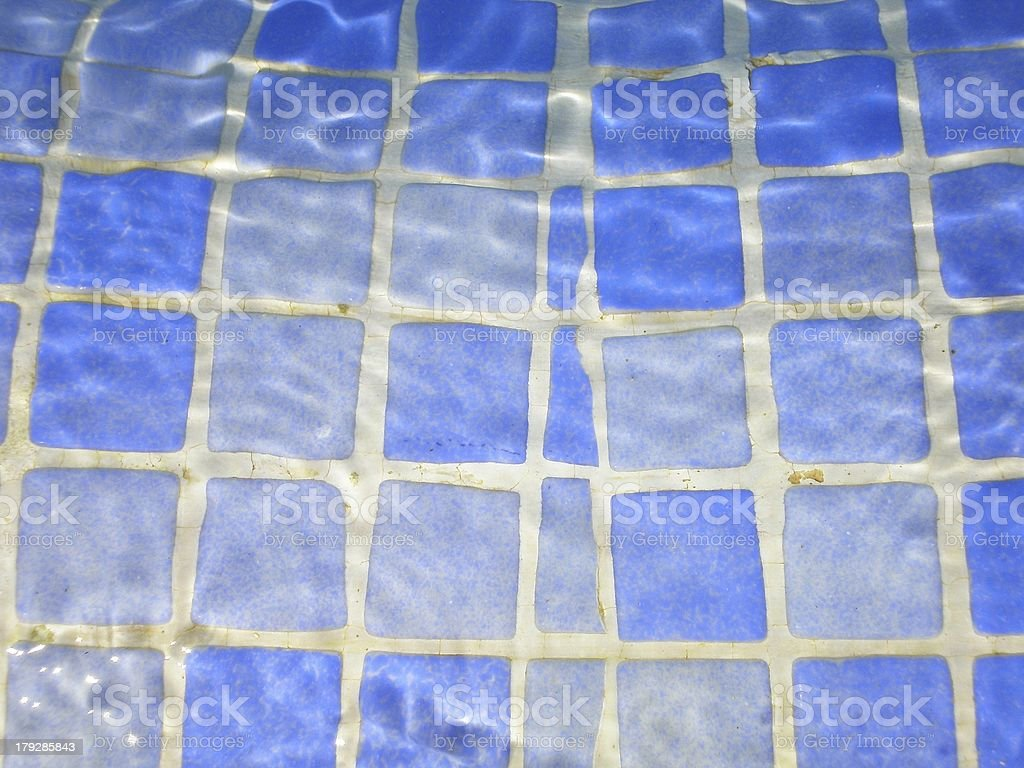 Blue Tiles in a Swimming Pool royalty-free stock photo