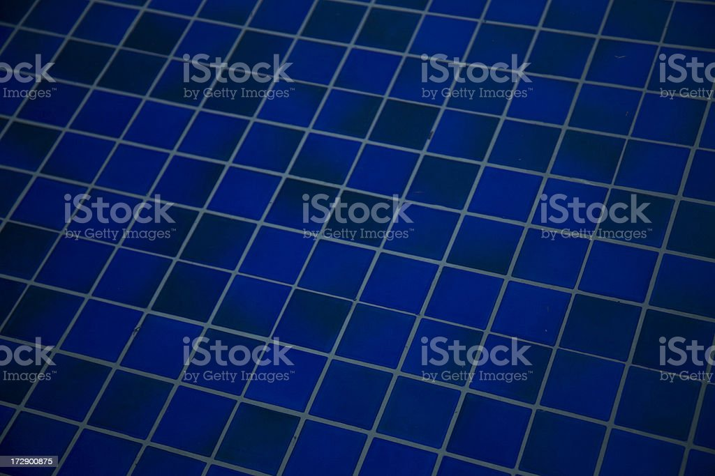 Blue Tiles in Pool royalty-free stock photo