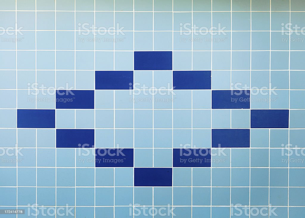 Blue Tiles royalty-free stock photo