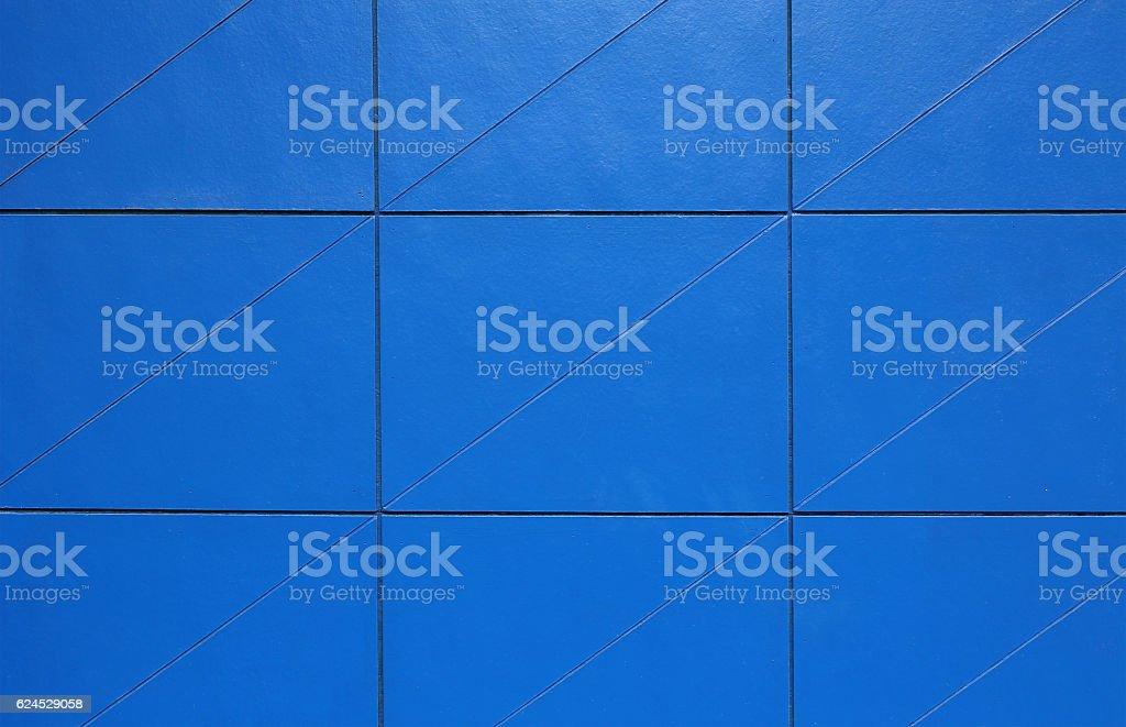 Blue Tiles wall pattern stock photo