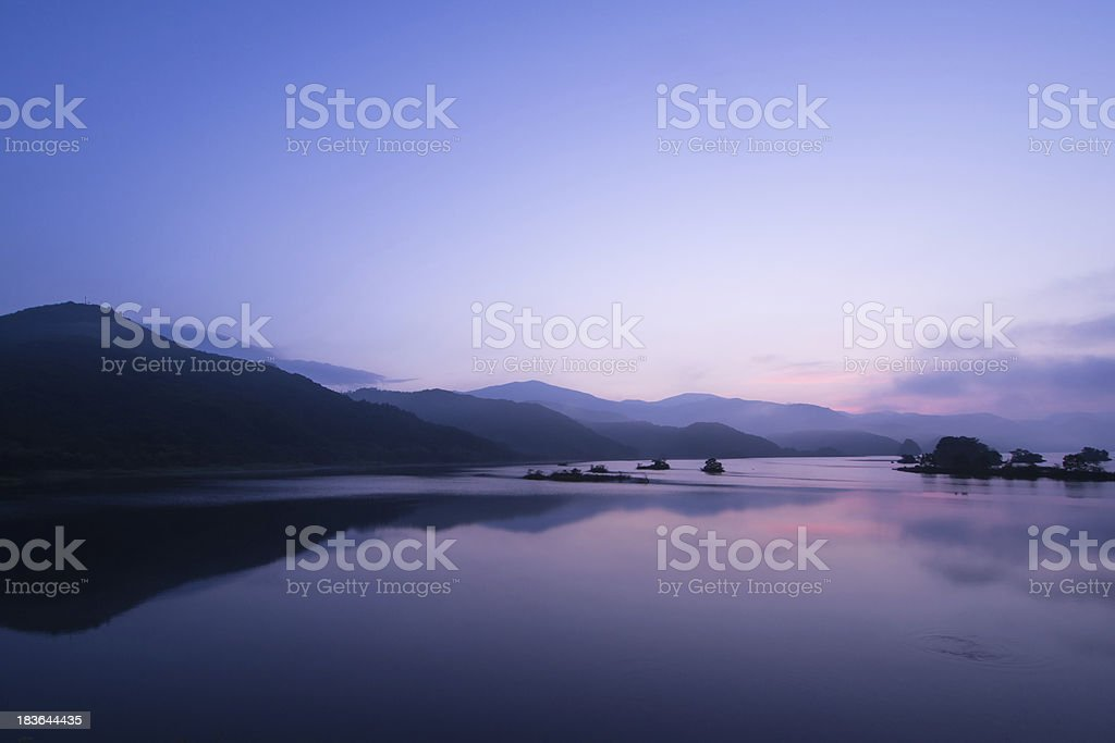 Blue time of the daybreak royalty-free stock photo