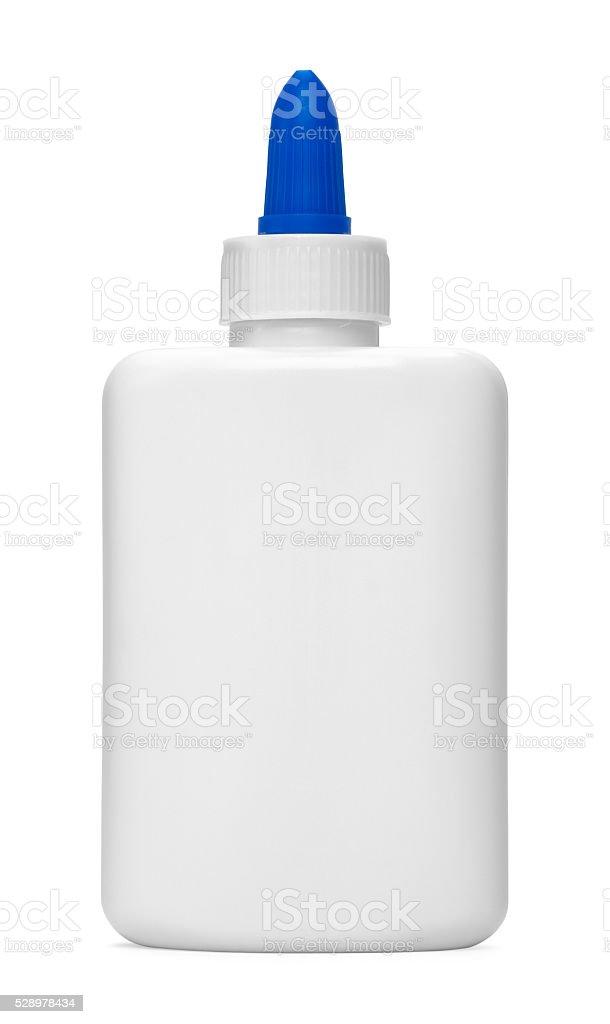 Blue Tip Glue Bottle stock photo