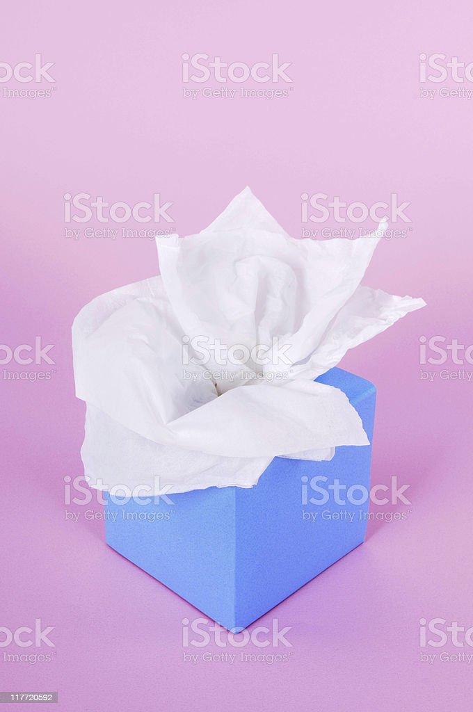 Blue tissue box royalty-free stock photo