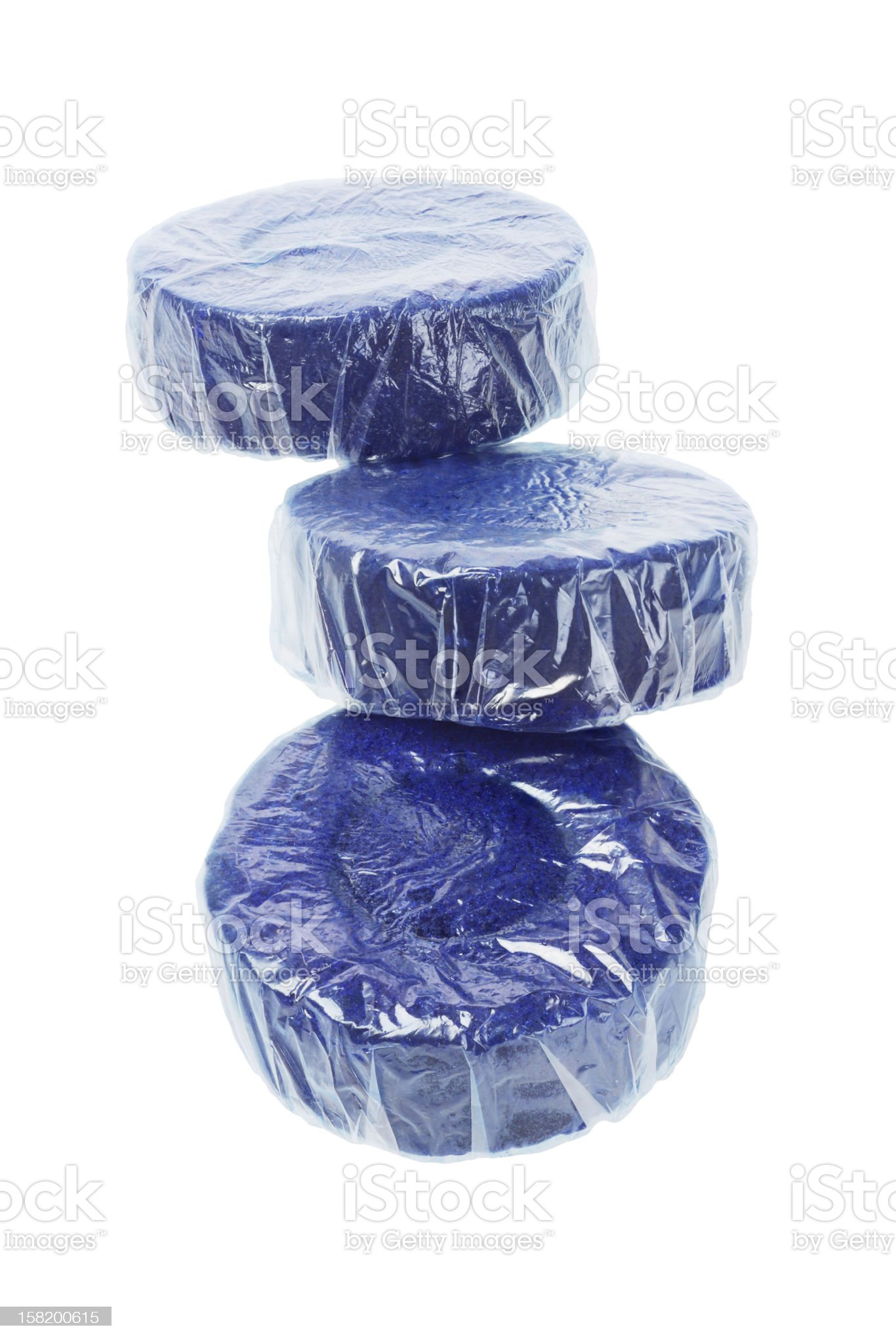 Blue Toilet Cleaner Tablets royalty-free stock photo
