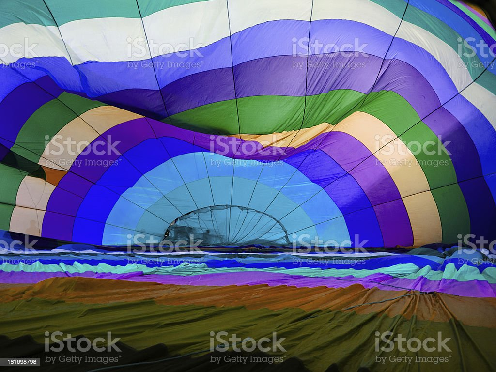 Blue tone balloon inside royalty-free stock photo