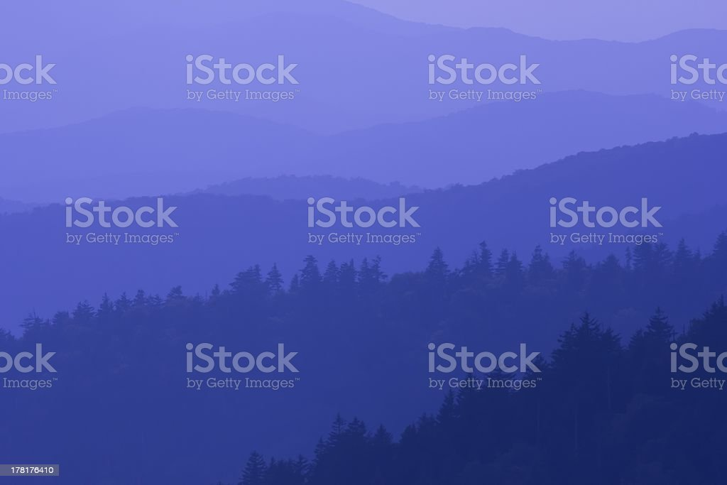 Blue Tones of the Great Smoky Mountains royalty-free stock photo