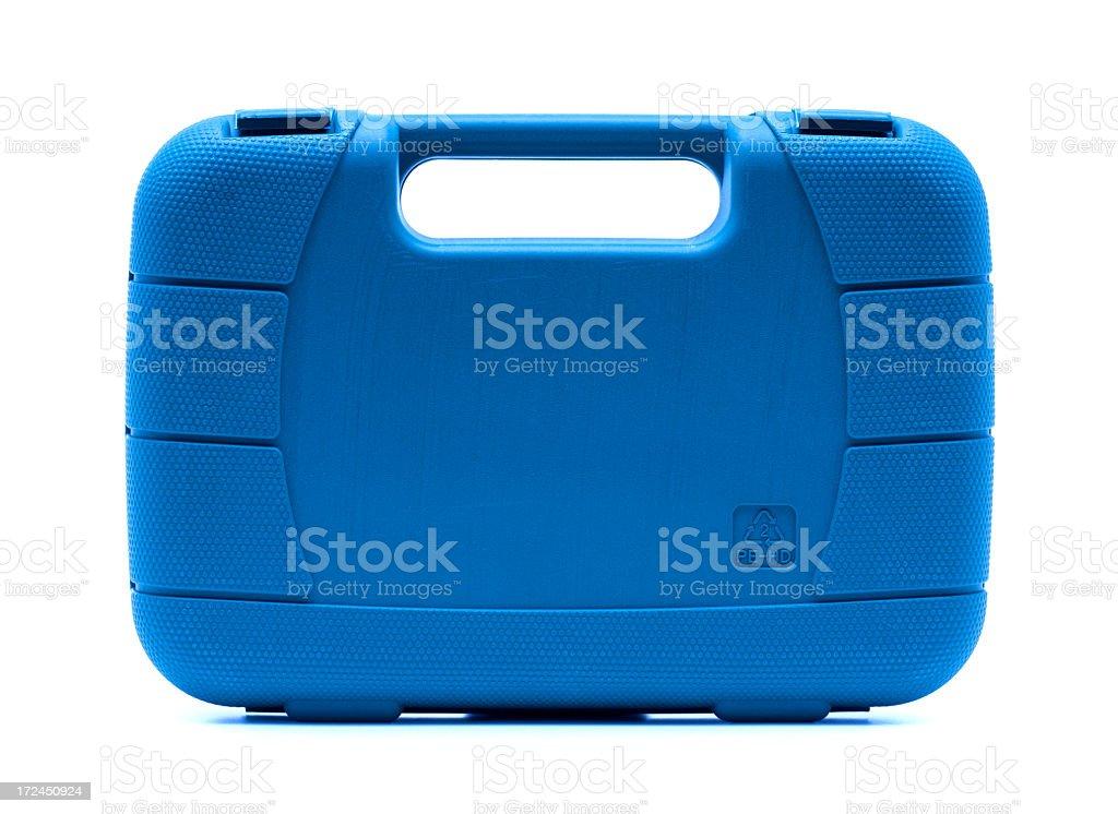 Blue toolbox isolated on white background royalty-free stock photo
