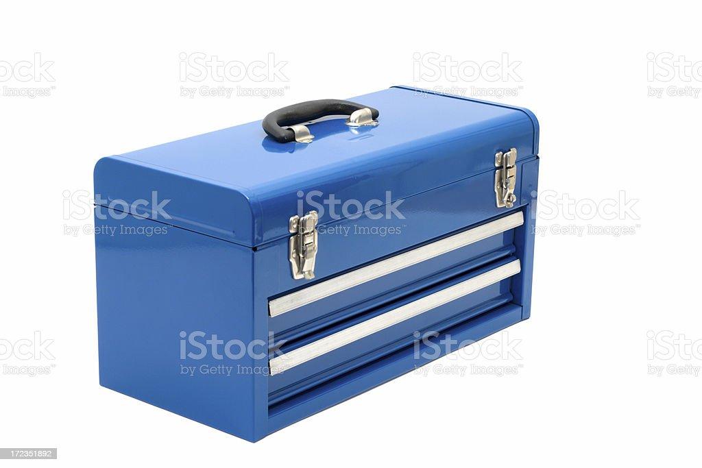 Blue Toolbox stock photo