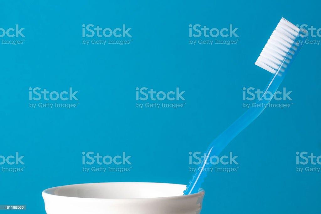 Blue Toothbrush stock photo