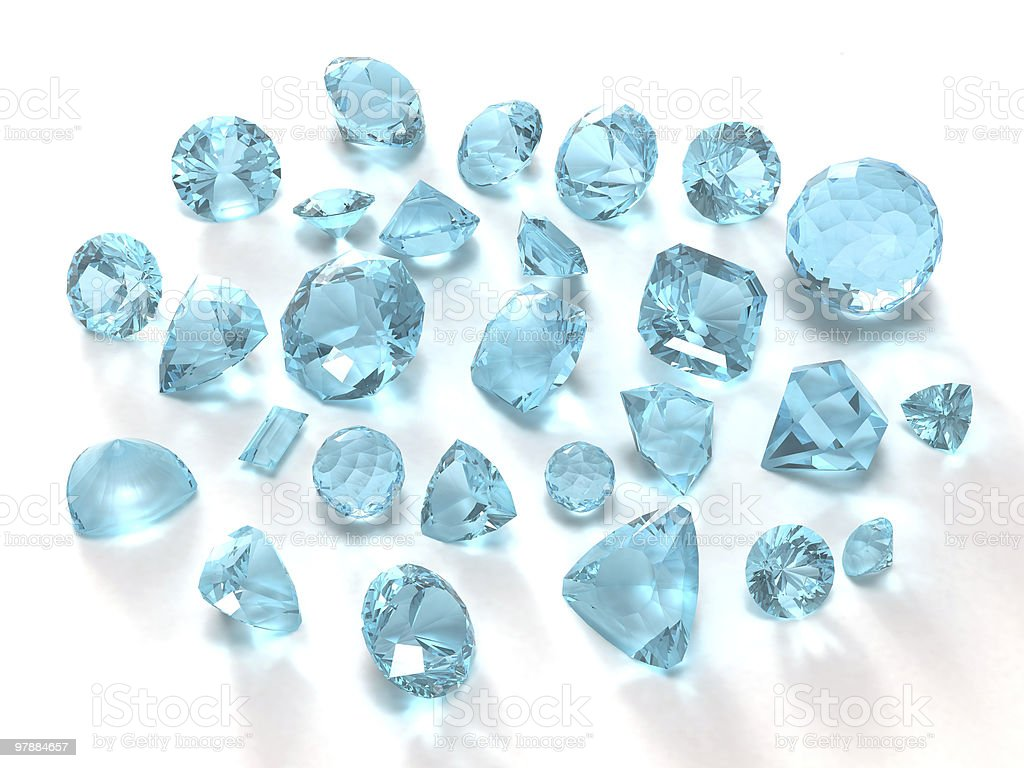 Blue topaz gems royalty-free stock photo