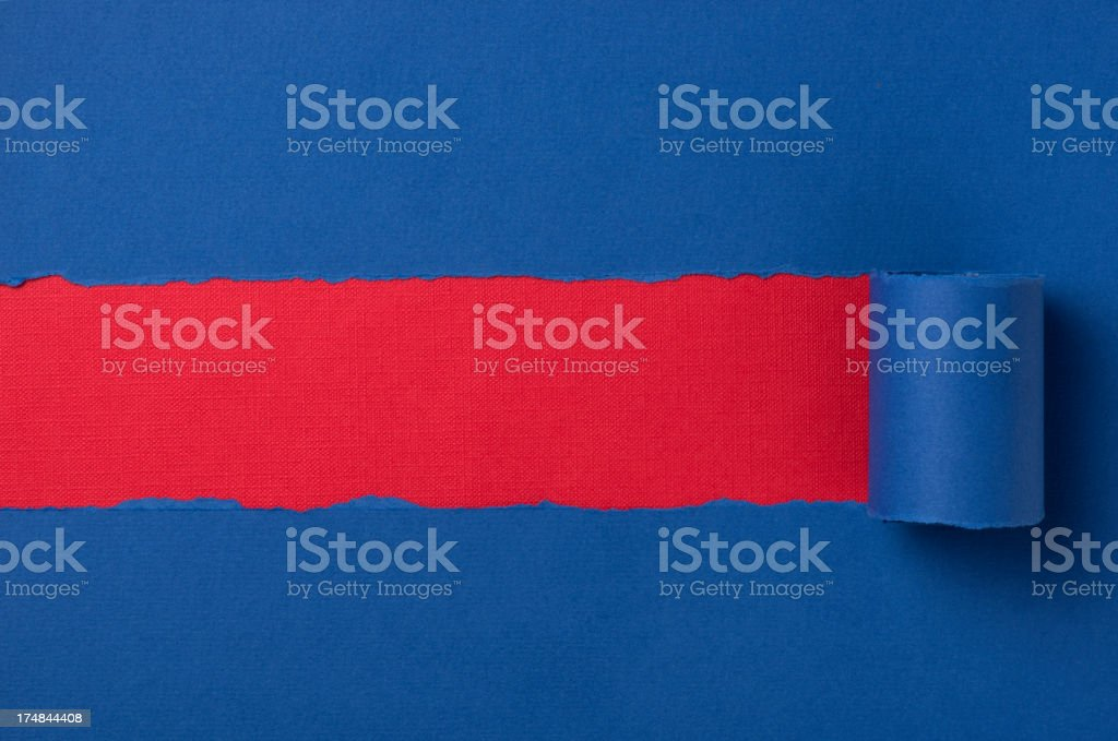 Blue torn paper background royalty-free stock photo