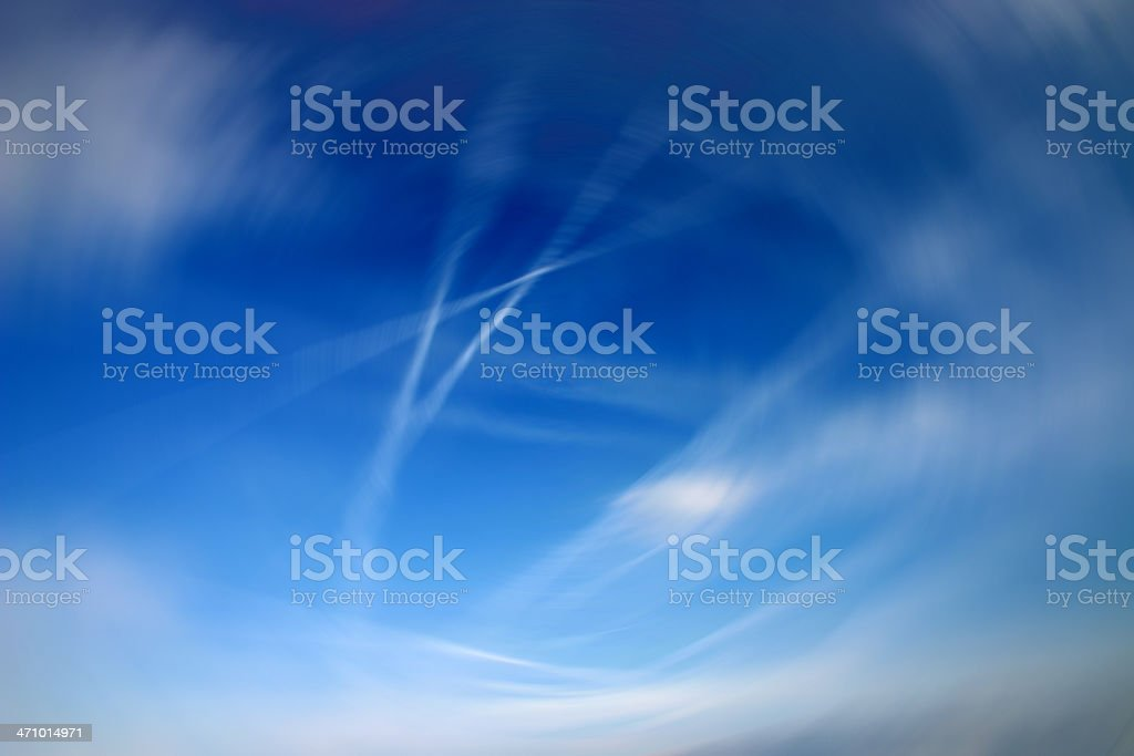 Blue tornado royalty-free stock photo