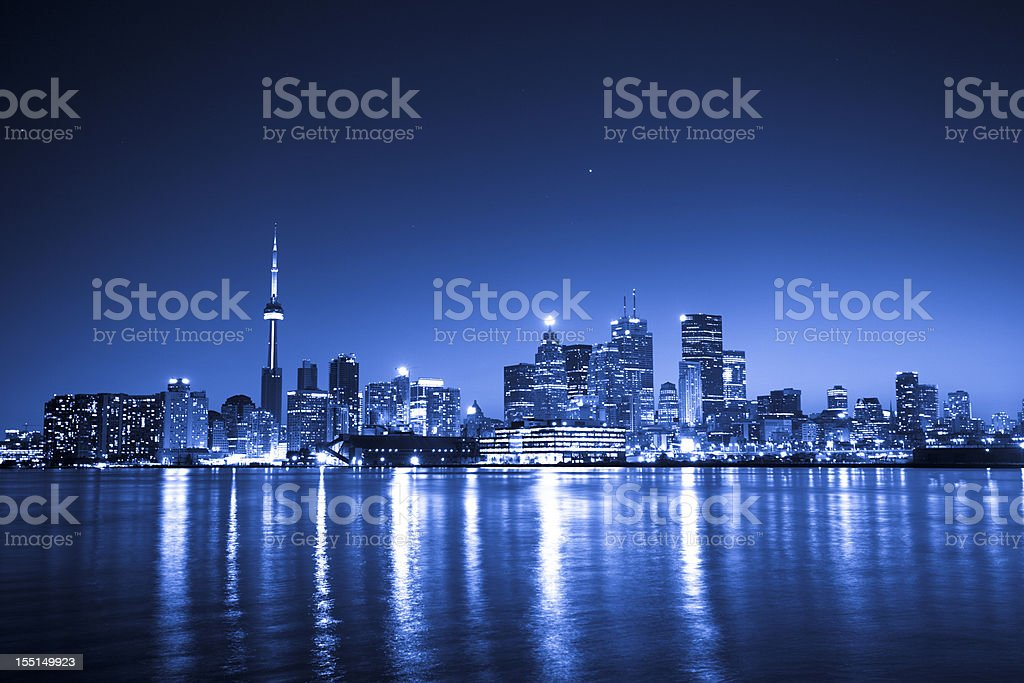 Blue Toronto stock photo