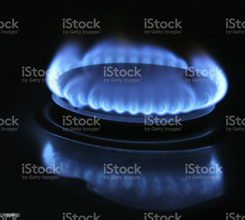 blue town gas royalty-free stock photo