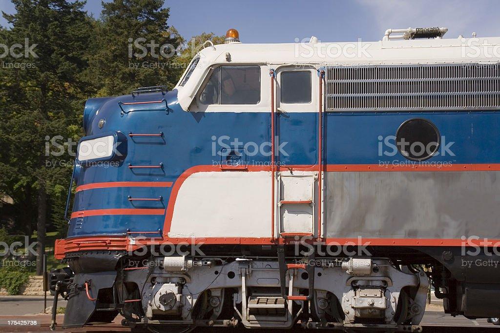 Blue Train Engine Hz royalty-free stock photo