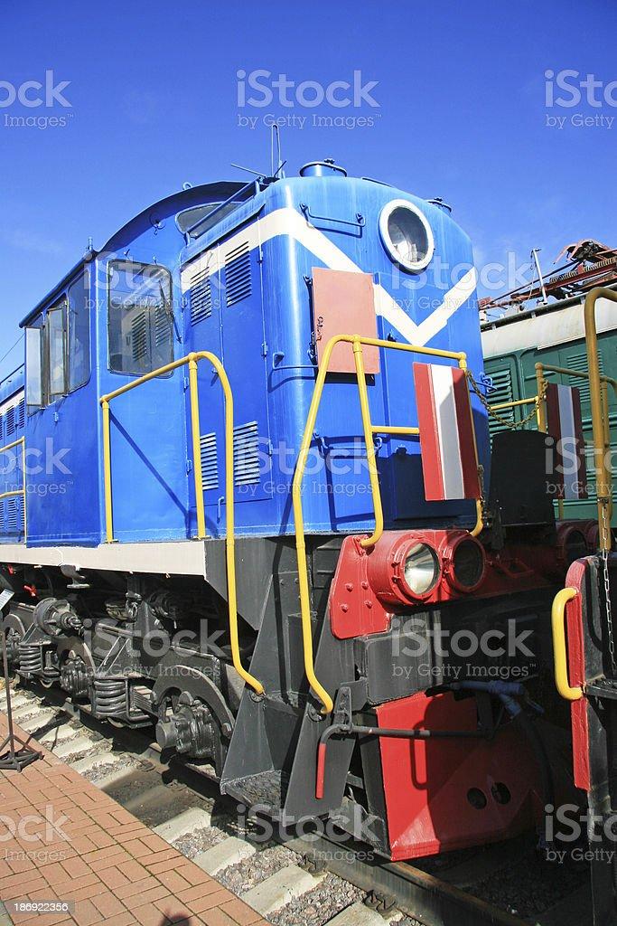 Blue Train royalty-free stock photo