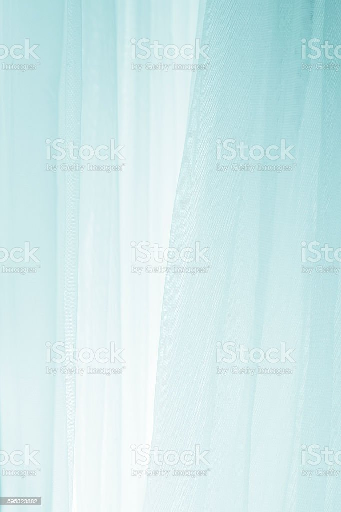 Blue transparent graceful fabric stock photo