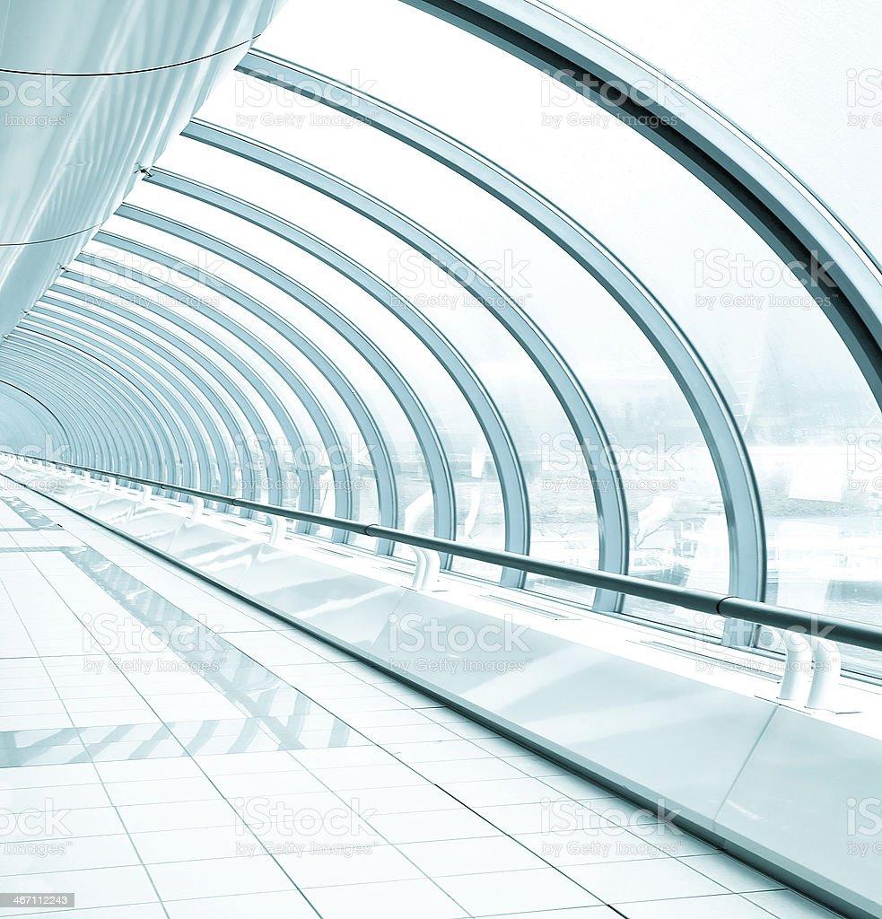blue transparent hallway royalty-free stock photo