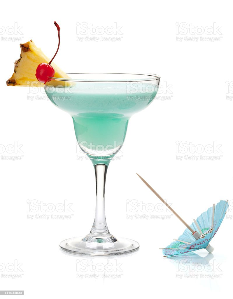 Blue tropical cocktail royalty-free stock photo