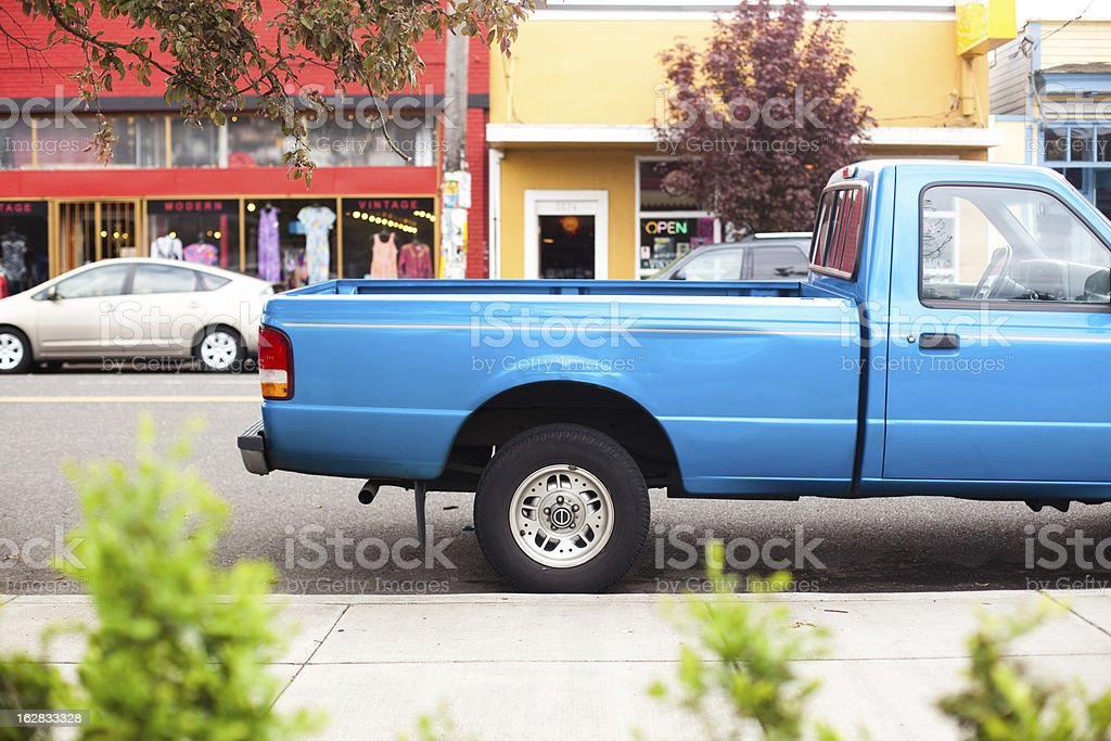 Blue Truck Bed stock photo