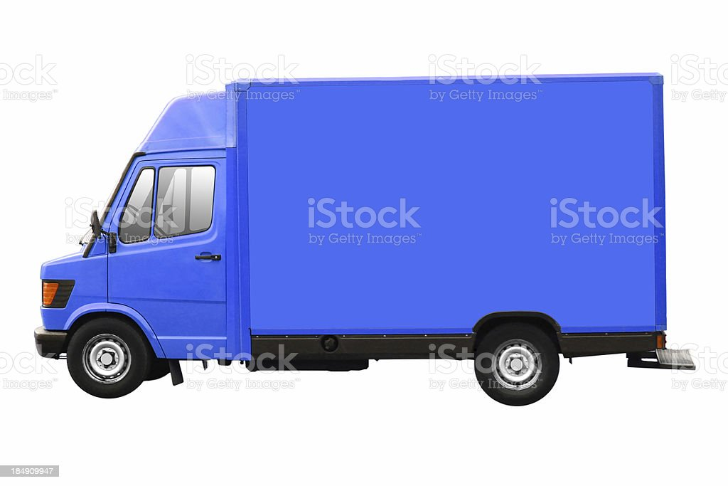 Blue Truck Isolated royalty-free stock photo