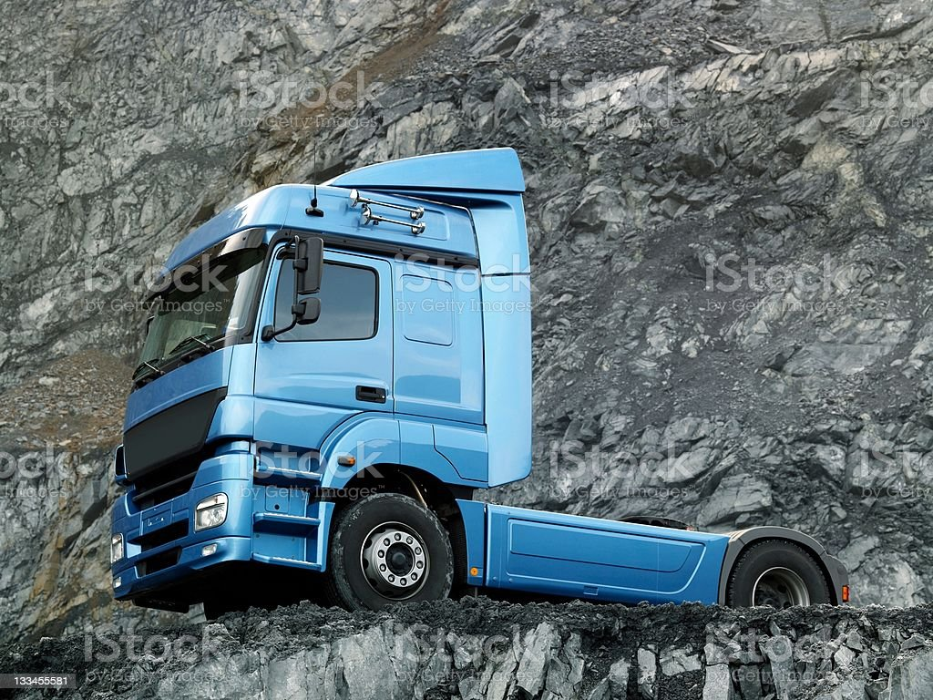 Blue truck royalty-free stock photo