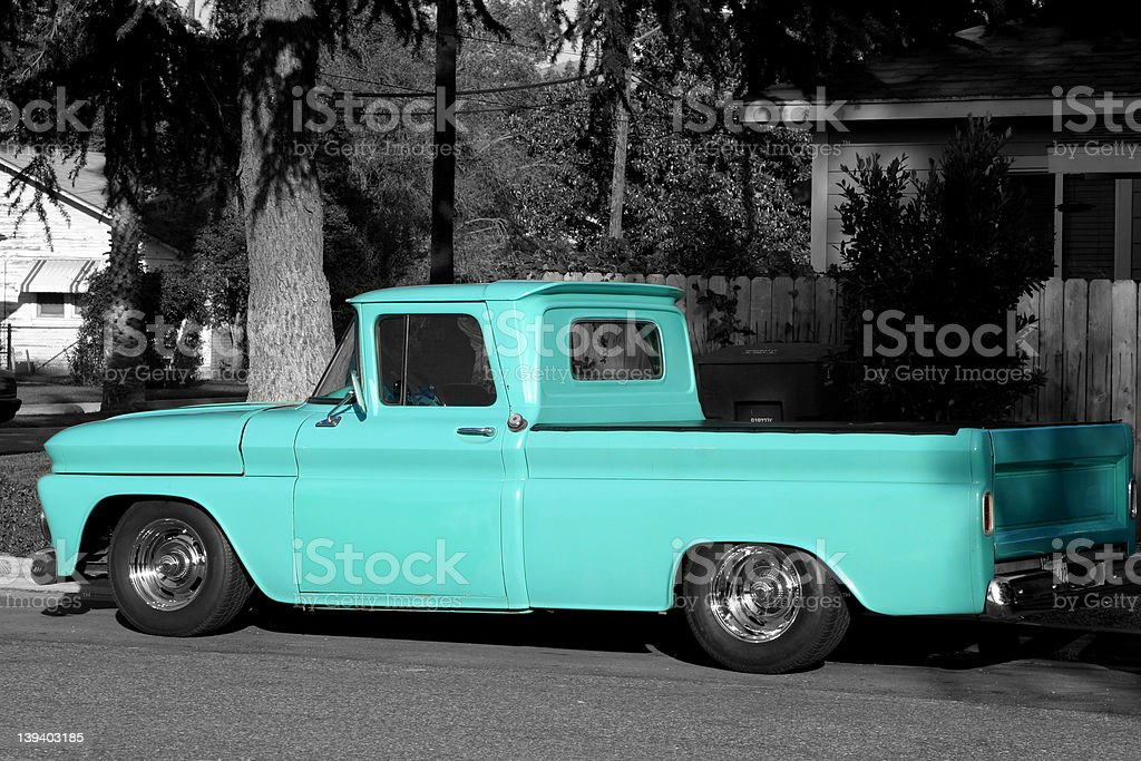 Blue Truck - Standing Out royalty-free stock photo