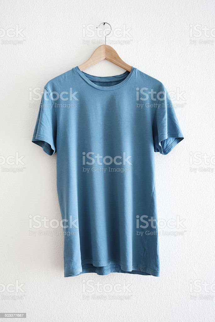 blue t-shirt stock photo