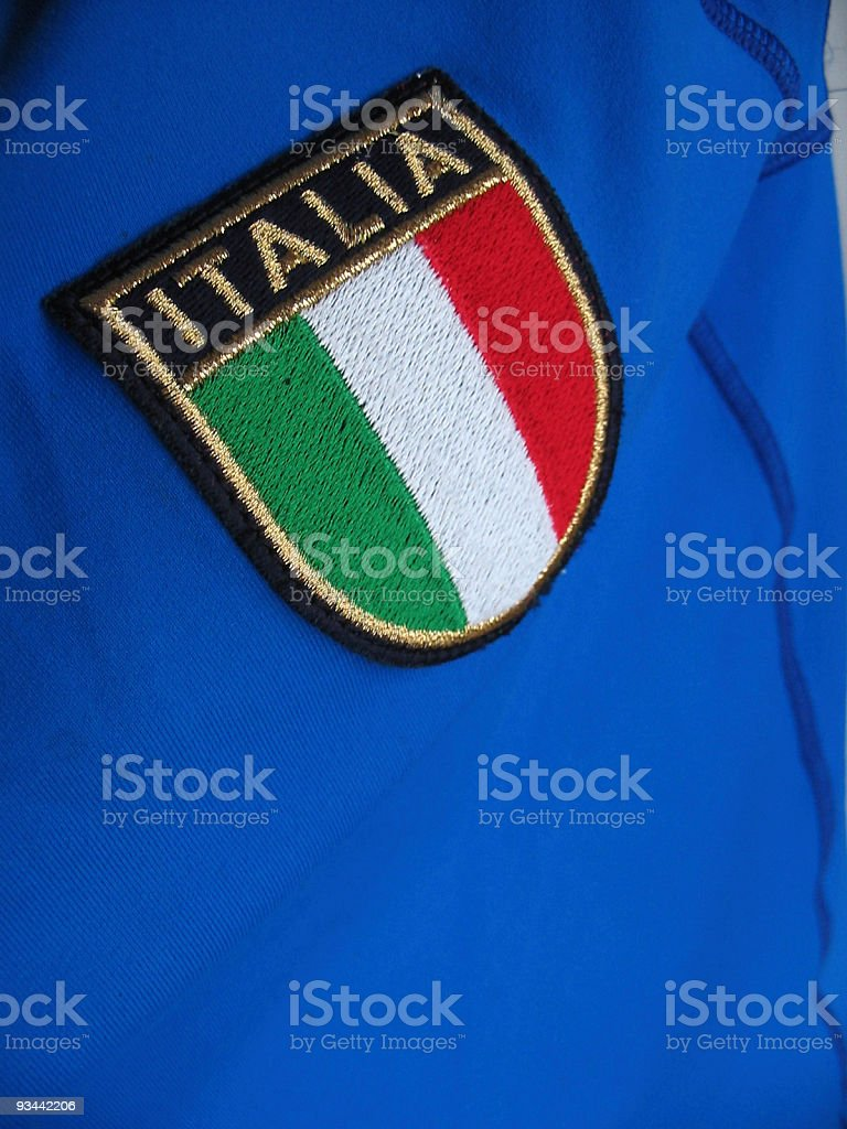 Blue tshirt with italian flag Nobody stock photo