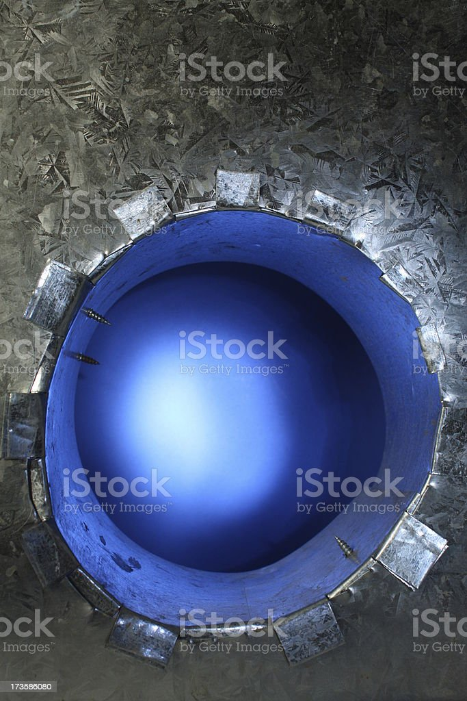 Blue Tube royalty-free stock photo