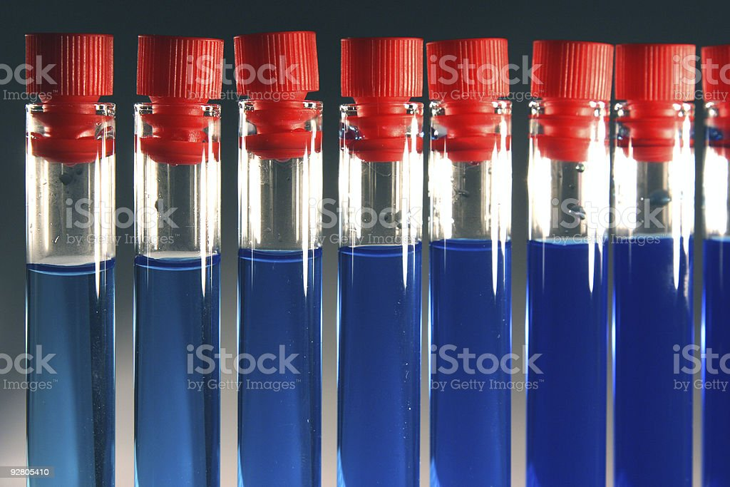 Provette blu I royalty-free stock photo