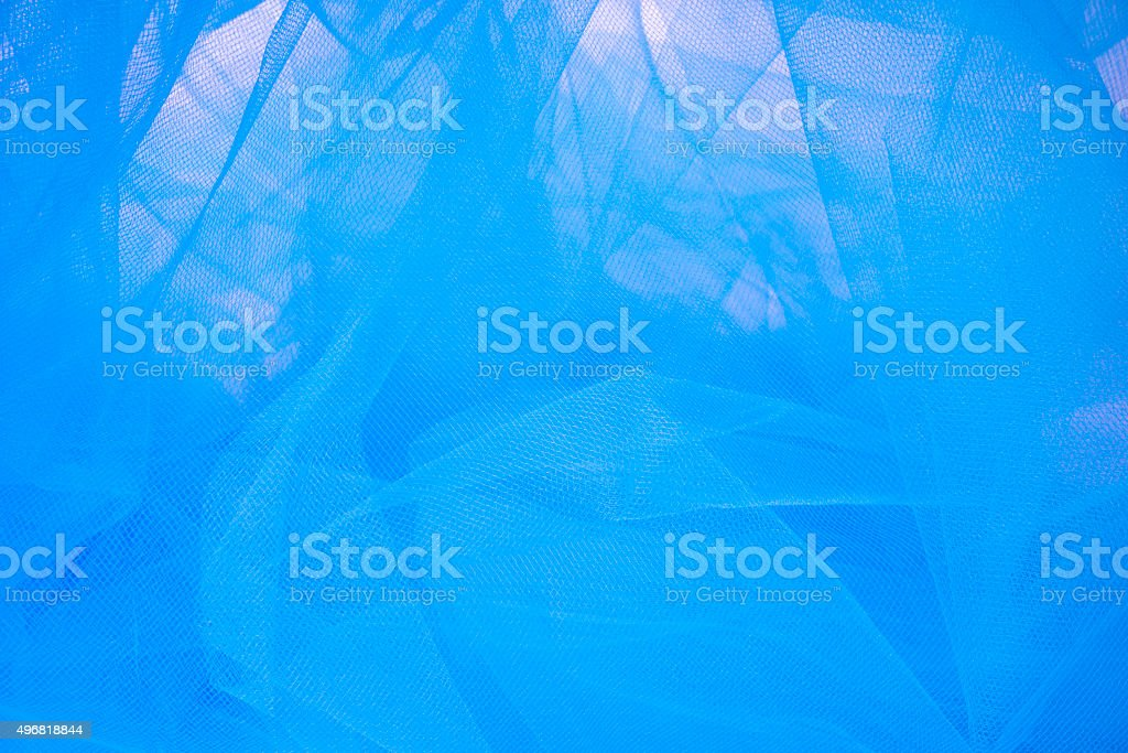 Blue  Tulle Fabric Background and Textures stock photo