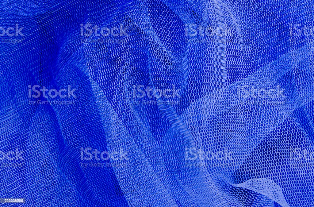 Blue tulle stock photo