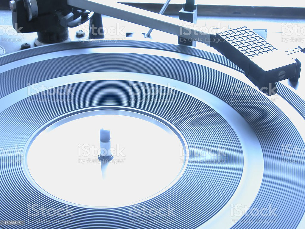 Blue Turntable royalty-free stock photo