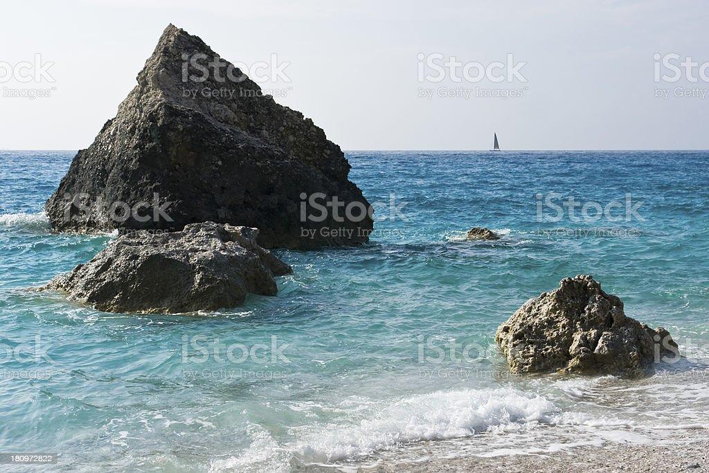 Blue turquoise coast sea background royalty-free stock photo