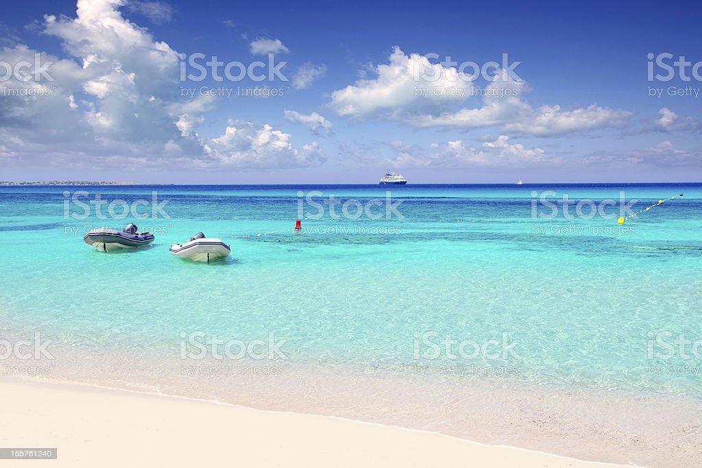 blue turquoise ripple Formentera water stock photo
