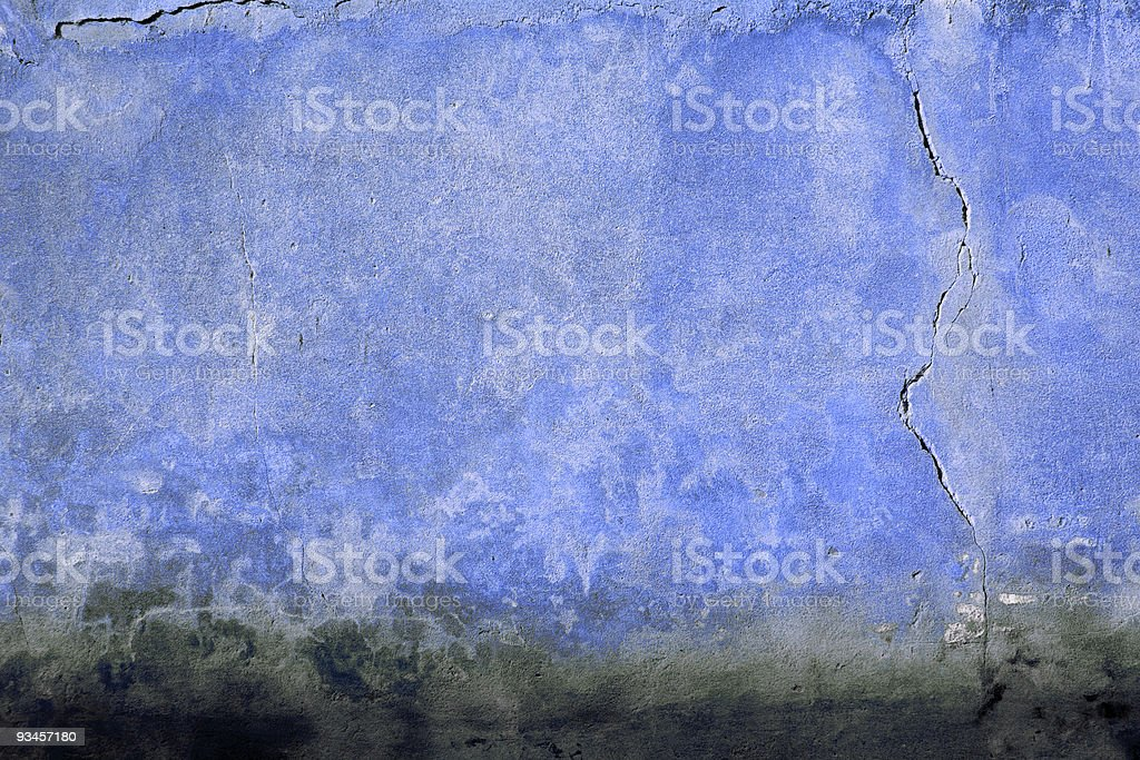 Blue tuscan wall royalty-free stock photo