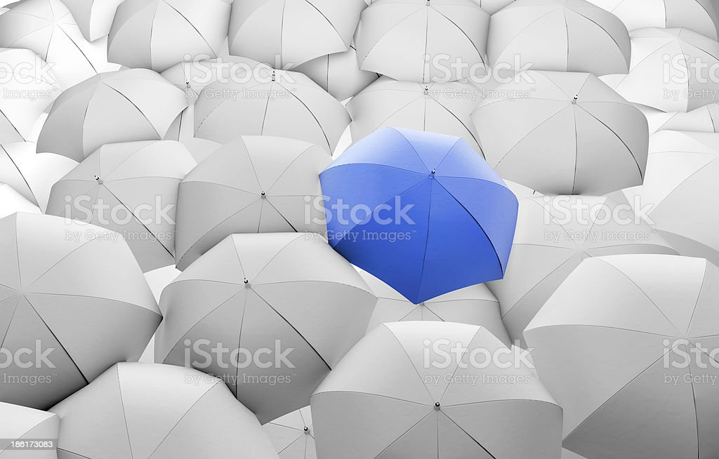 blue umbrella royalty-free stock photo