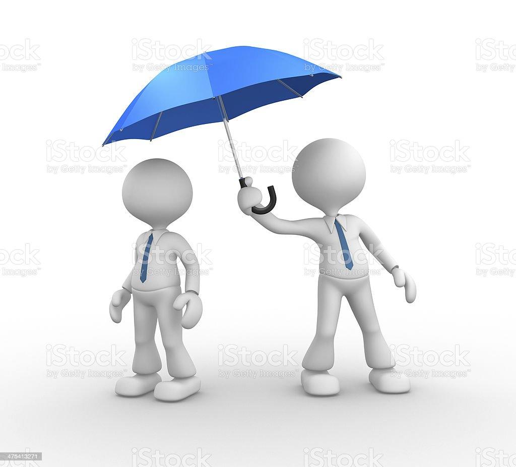 Blue umbrella royalty-free stock photo