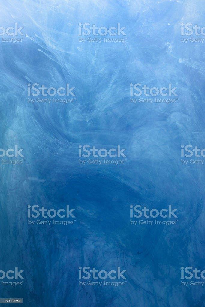 blue underwater chords stock photo