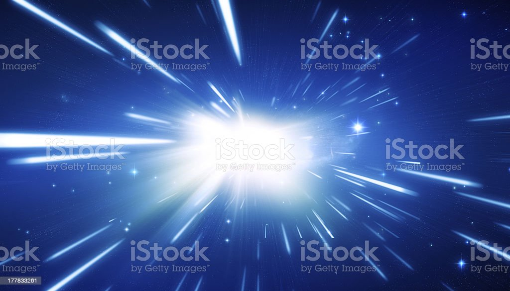 Blue Universe Background royalty-free stock photo