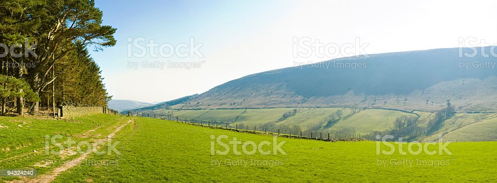 Blue valley vista royalty-free stock photo