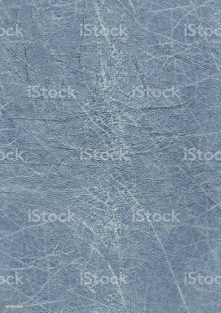 Blue Veal Leather Wizened Grunge Texture Sample royalty-free stock photo