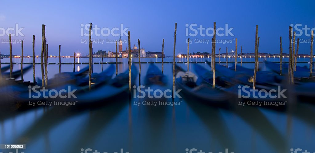 Blue Venice landscape royalty-free stock photo