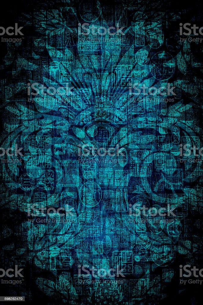 Blue Vintage Background stock photo