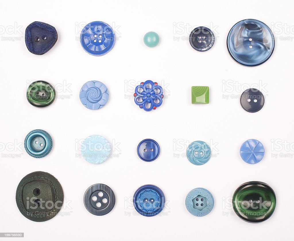Blue Vintage Buttons royalty-free stock photo