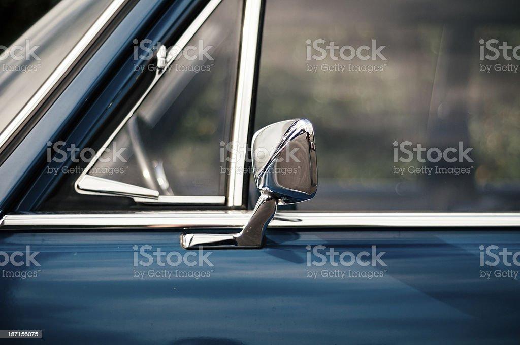 Blue vintage car royalty-free stock photo