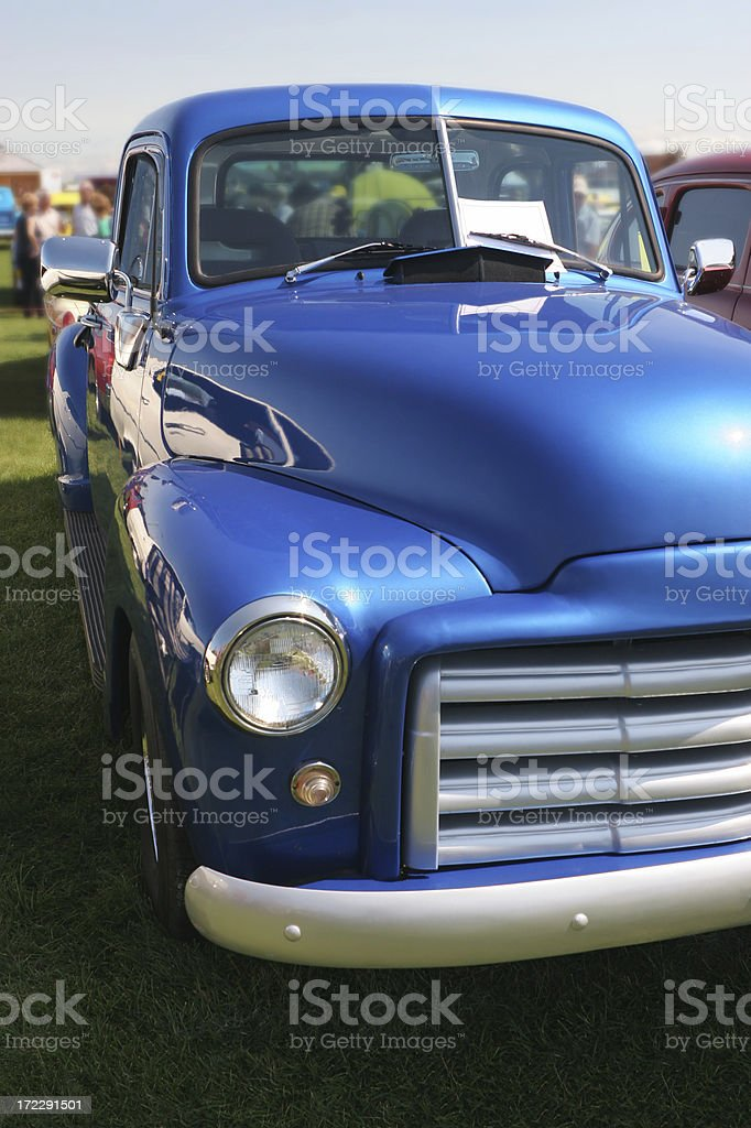 Blue Vintage Chevrolet Truck stock photo