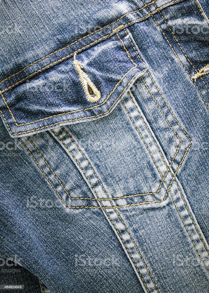 Blue vintage denim jacket stock photo