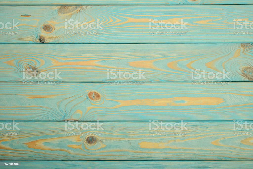 Blue vintage painted wooden panel with horizontal planks royalty-free stock photo